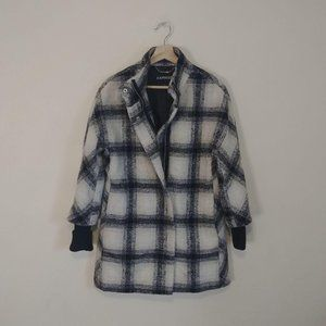 Express Plaid Recycled Wool Jacket